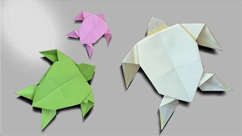 How To Make Paper Tortoise - how to make an easy origami turtle easy paper origami