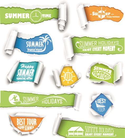 Design Elements Banner | banner torn paper design elements vector free vector in