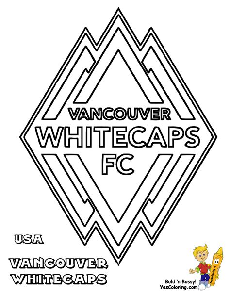 soccer coloring sheets fifa usa mls west free