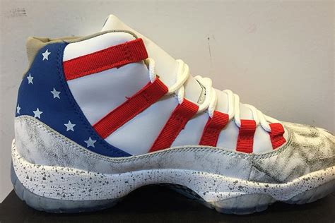 american flag basketball shoes wholesale 11 moon landing retro basketball shoes white