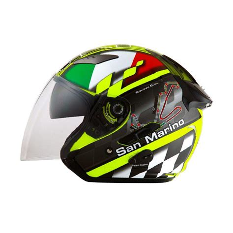 Helm Kyt Galaxy Slide Fluo Jual Kyt Galaxy Slide San Marino Circuit Helm Half