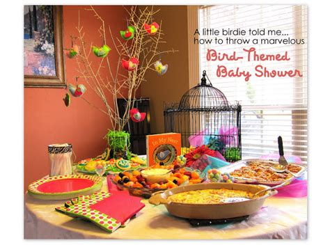 bird themed baby shower positively splendid crafts