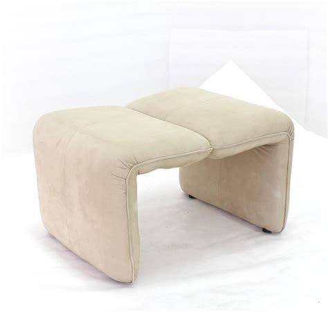 chair with matching ottoman beige suede leather lounge chair with matching ottoman for