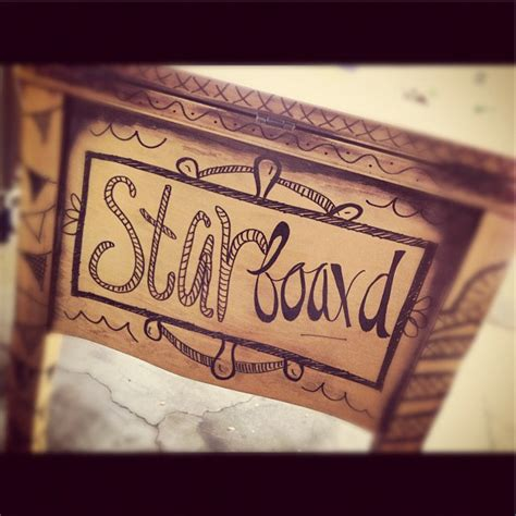 port and starboard tattoo before and after sharpie sewing table desk two