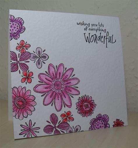 inkadinkado doodle flowers 69 best inkadinkado images on floral cards