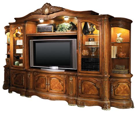 entertainment centers and tv stands cortina entertainment center honey walnut finish