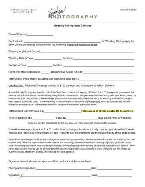 wedding photographer contract gse bookbinder co
