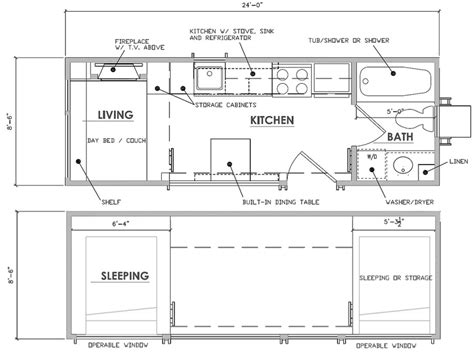 mobile tiny house floor plans escape traveler a tiny house on wheels that comfortably