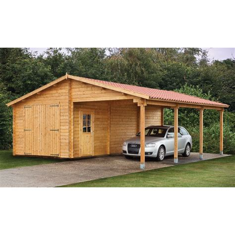 Carport And Shed by Tuin 13ft X 27ft 4m X 8 30m Garage With Carport 70mm