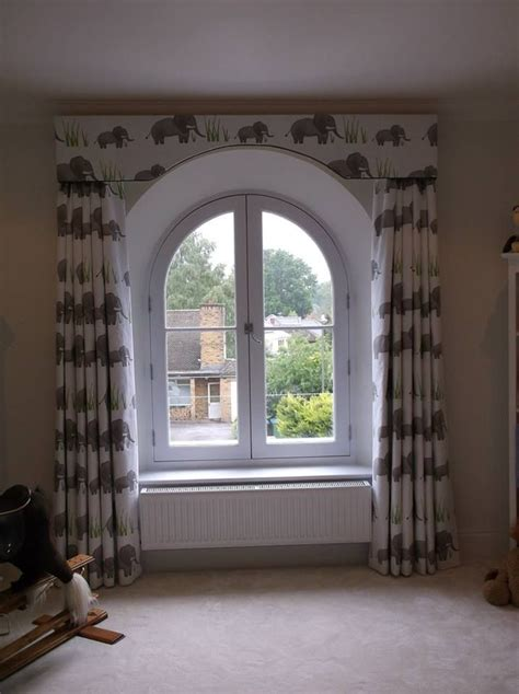 ideas  dressing  arched window arched pelmet