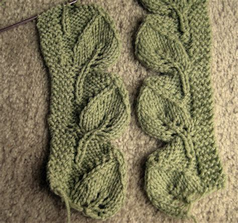 how to knit a leaf shape knitted leaves pattern 1000 free patterns