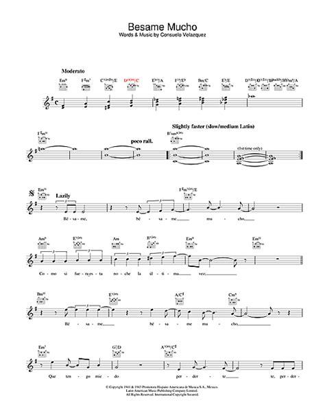 besame mucho testo besame mucho chords by diana krall melody line lyrics