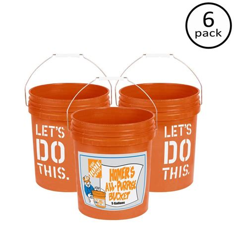 the home depot 5 gal homer 6 pack 05glhd2 the