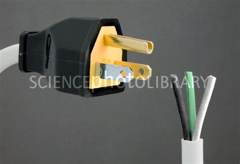 socket cable colours american mains and wiring stock image c005