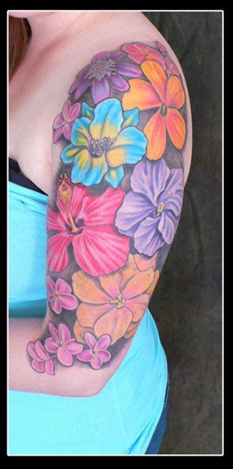 color flower tattoos flower color arm plurabella