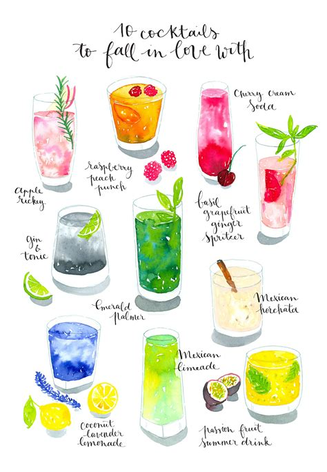 watercolor cocktail work watercolor cocktails watercolor painting