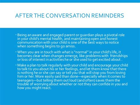 13 Tips On Talking The Right Way by Tips For Talking About Mental Health With A Child Or