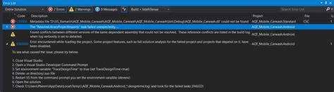 xamarin layout resource could not be found metadata file dll could not be found resolvelibrary