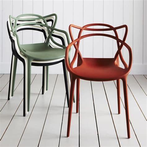 kartell chaises masters fauteuil kartell design en polypropyl 232 ne