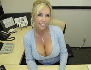 Race Car Desk Chair Mom Showing Off Her Big Cleavage Private Milf Pics