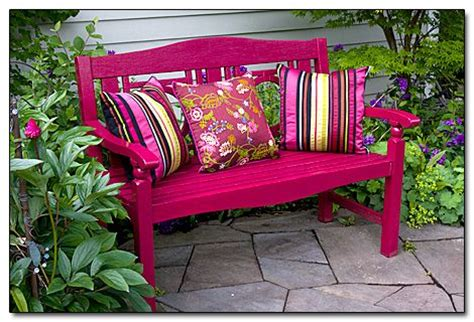 outdoor bench colors i find my favorite garden bench in the shade sit back