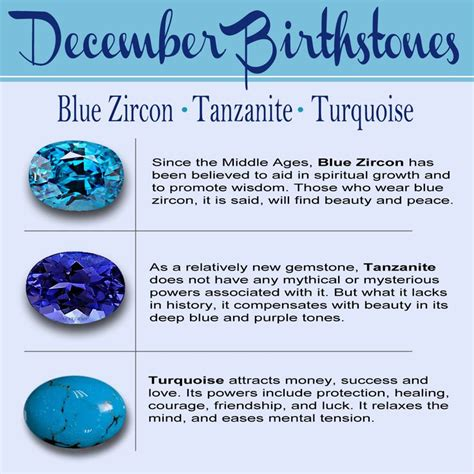 birthstone for december meaning colors and jewelry