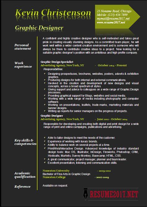 graphic designer resume exles 2017