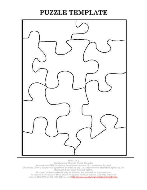 puzzle template 20 pieces 20 puzzle template ideas exle resume