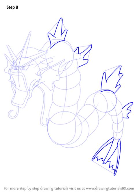 how to draw doodle learn how to draw gyarados from step by