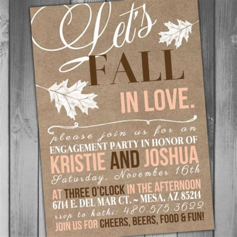 free printable engagement party decorations engagement party invitation fall engagement party all