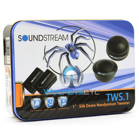 tws 1 soundstream 1 quot soft dome tweeter