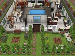 V Shaped Floor Plans by Original House With Interior Courtyard Sims Freeplay
