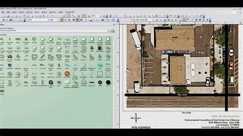 creating blueprints visio plot plan training lesson 1 youtube