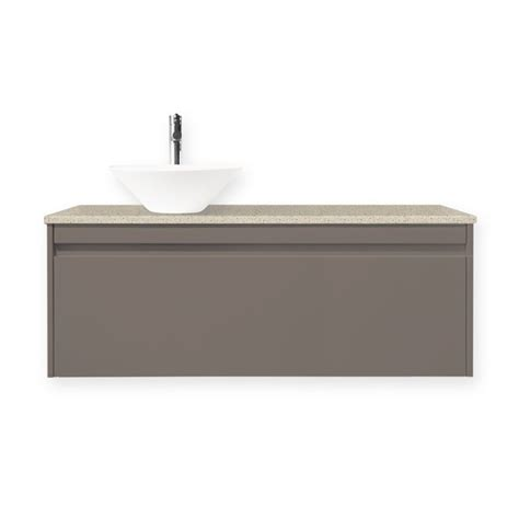 Forme Vanities Forme 1200mm Colourstone Iron Ore Quay Bell Wall Hung Vanity