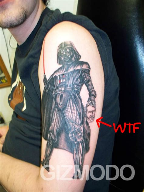 the chilling darth vader kills george lucas tattoo