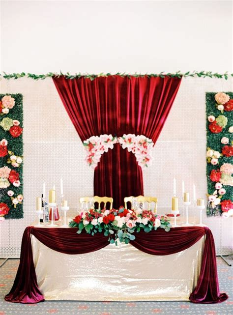from cranberry to red home decor pinterest red and gold wedding inspiration photos by olga