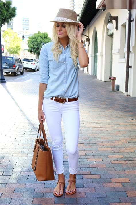 jean outfits on pinterest what to wear with white jeans 20 perfect outfits brown