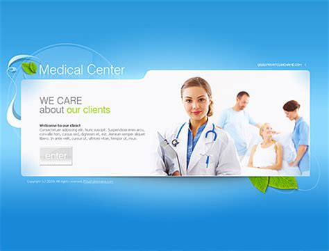 Medical Center Dynamic Flash Template Dynamic Flash Website Templates Free