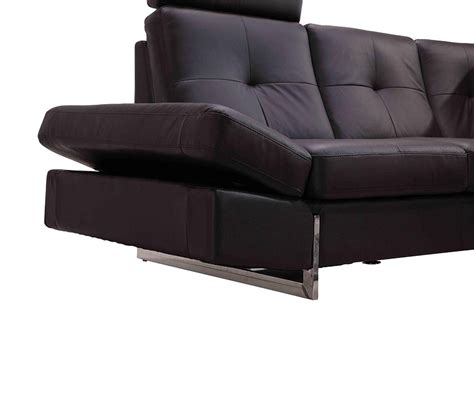 sectional sofas leather modern dreamfurniture com 973 modern brown leather sectional sofa