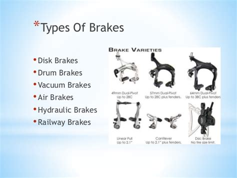 Car Types Of Brakes by Brakes And Its Types