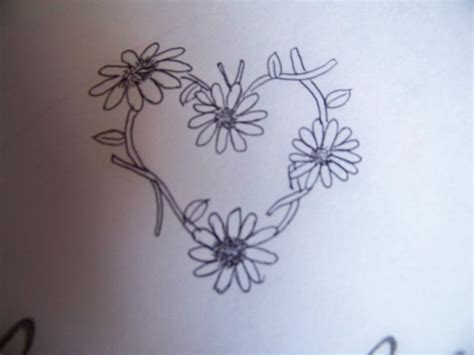 daisychain heart tattoo design by misfitskid13 on deviantart