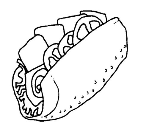 The Big Sandwich Junk Food Coloring Page Kids Coloring Sandwich Coloring Pages