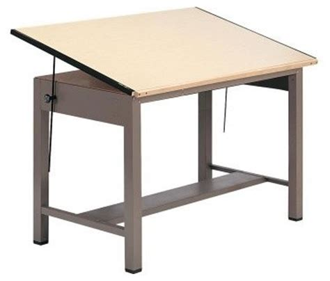 Mayline Ranger Steel Four Post Drafting Table Drafting Modern Drafting Table