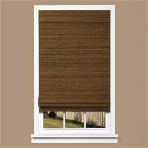 zig zag l shade homebasics zig zag natural woven bamboo cordless roman