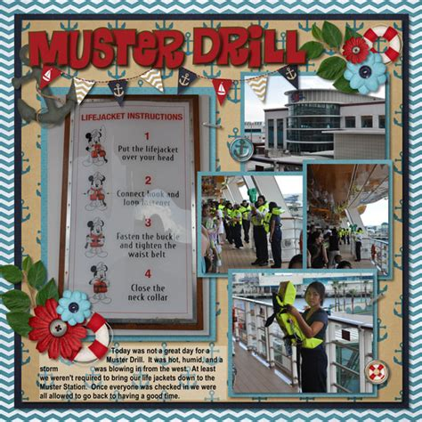 Muster Drill Muster Drill Mousescrappers Disney Scrapbooking Gallery