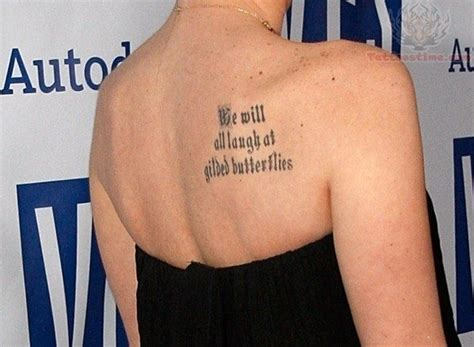 small girl shoulder tattoos literary on back shoulder for