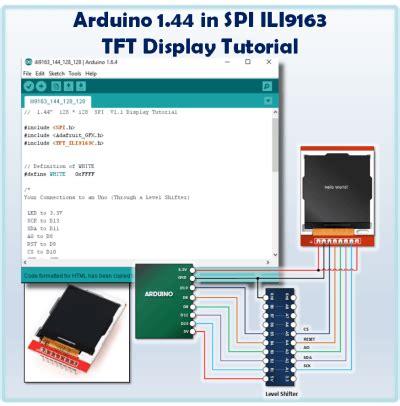tutorial arduino spi arduino 1 44 in spi tft display tutorial arduino