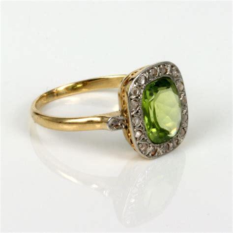 Peridot Rings by Vintage Peridot Engagement Rings Www Pixshark