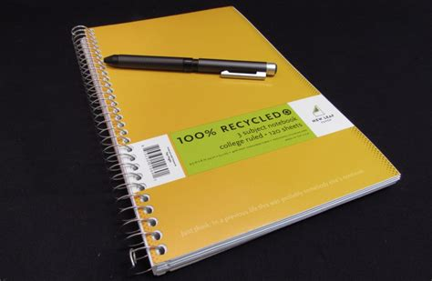 Leaf Notebook new leaf basic 100 recycled paper college ruled notebook