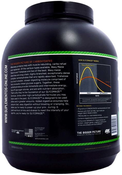carbohydrates g kg optimum nutrition glycomaize photo gallery at zumub